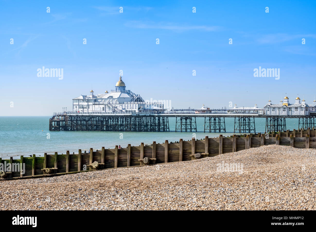 La jetée d''Eastbourne, Eastbourne, East Sussex, Angleterre du Sud, FR, UK Photo Stock