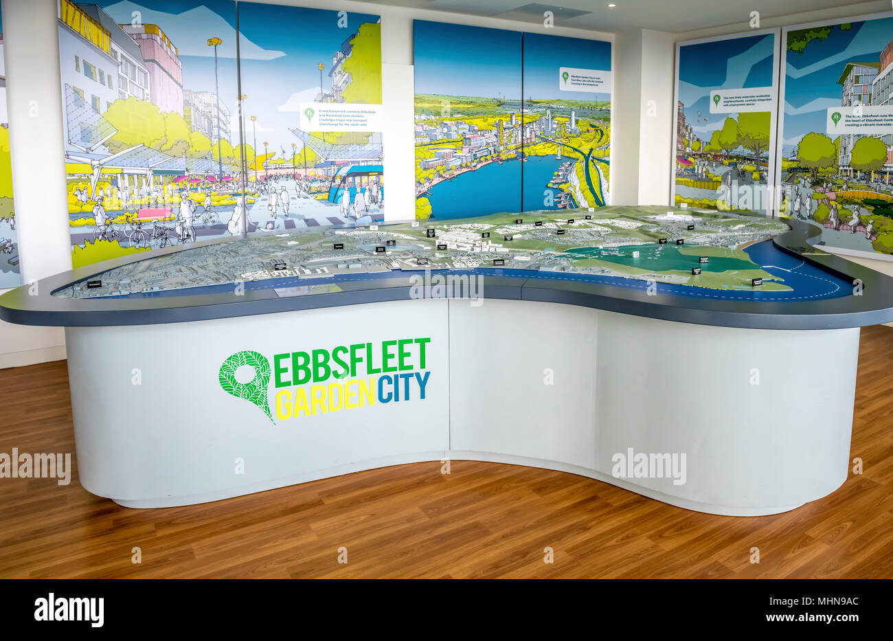 Les plans de mise en page et le modèle de Ebbsfleet garden city Photo Stock