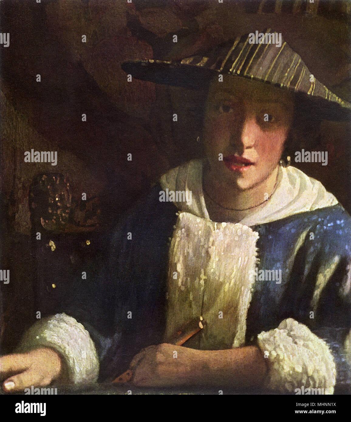 Jan Vermeer La Jeune Femme Avec Une Servante Tenant Une
