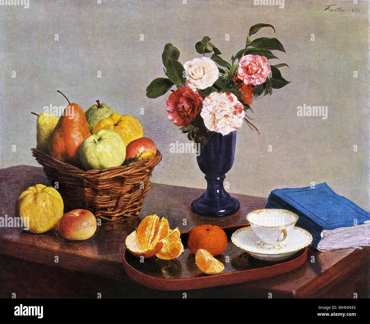 Still Life par Henri Fantin-Latour (1836-1904) Date: vers 1866 Photo Stock