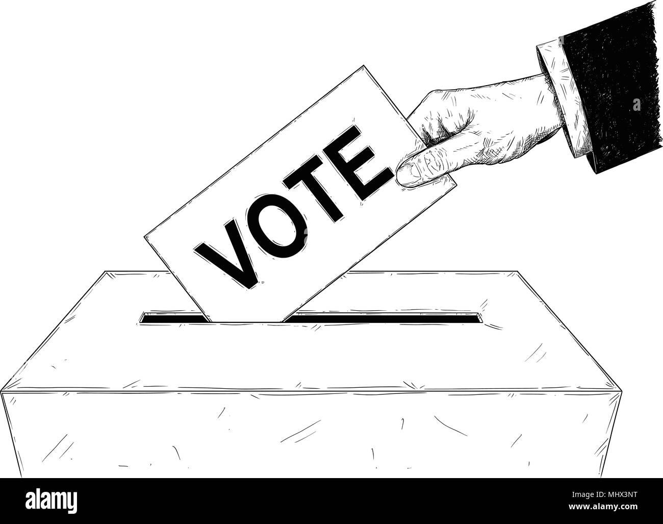 Dessin D Enveloppe vector illustration artistique ou d'un dessin de l'enveloppe de vote