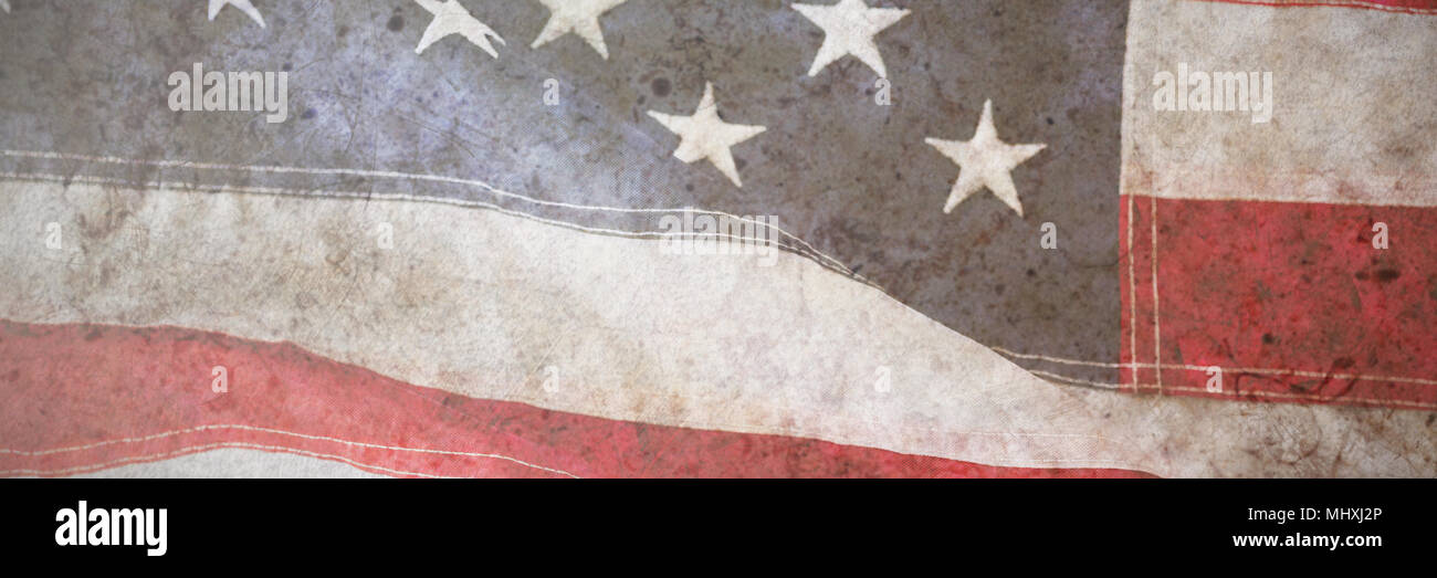 Close-up de rouge et blanc drapeau Américain Banque D'Images