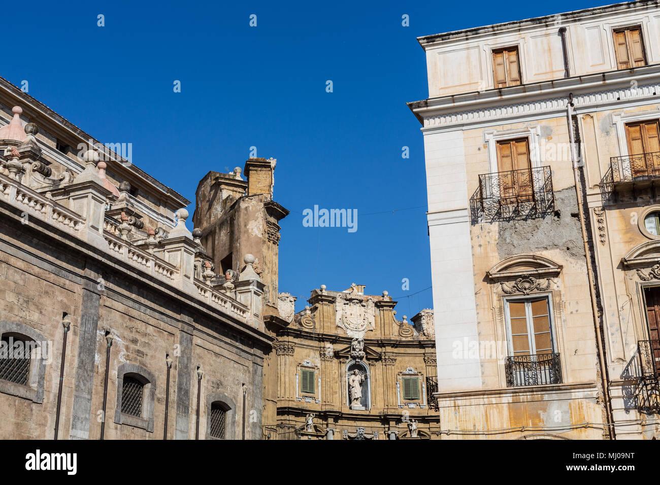 La Piazza Pretoria, Palerme, Sicile, Italie Photo Stock