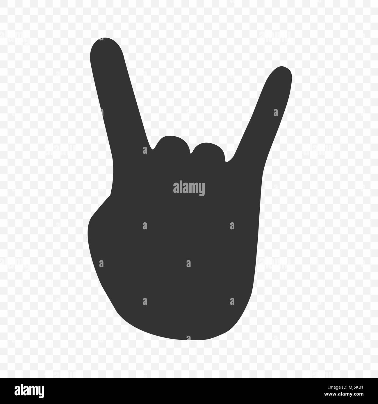 Rock Roll Le Heavy Metal Signe De La Corne Icône