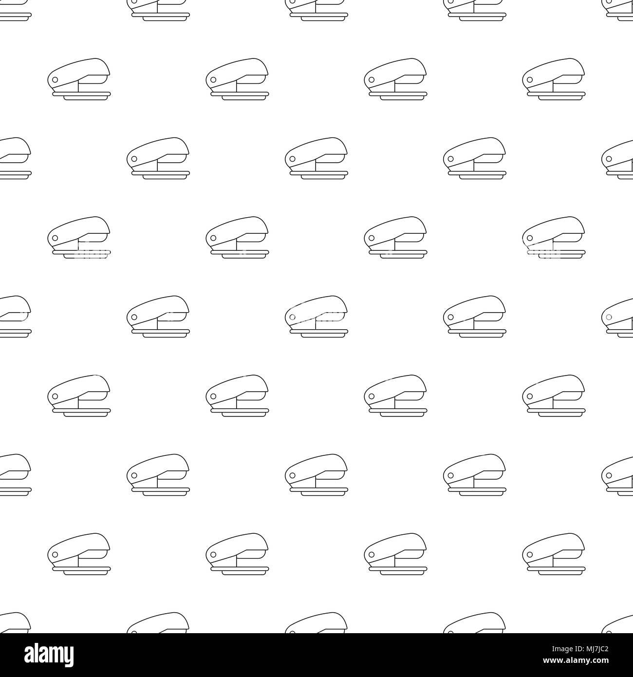Motif de l'agrafeuse sans vecteur Illustration de Vecteur