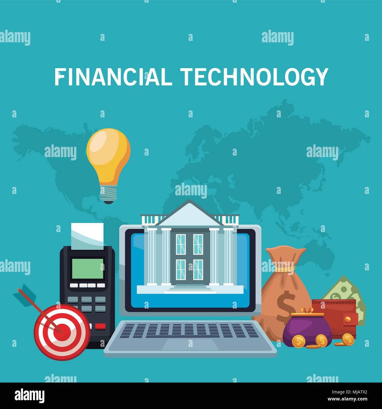 Technologie concept financier Photo Stock