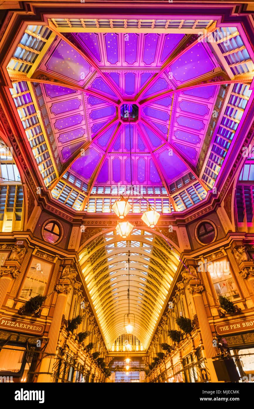 L'Angleterre, Londres, ville de London, Leadenhall Market Photo Stock