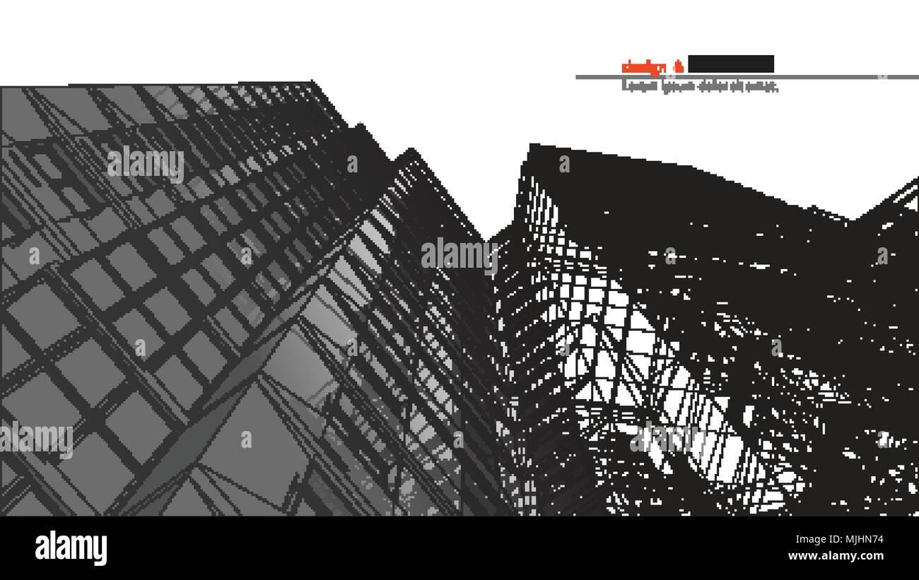 Gratte Ciel Urbanistique Abstract 3d Render Of Building
