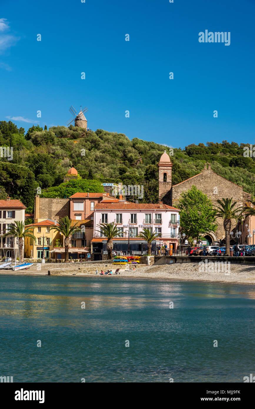 Collioure, Pyrénées-Orientales, France Photo Stock