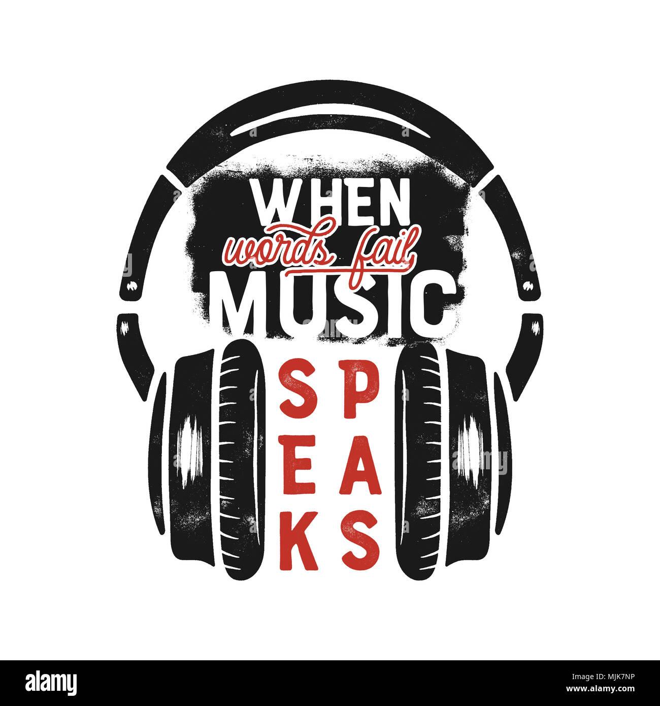 té de la musique, design graphique de l'affiche. music citation