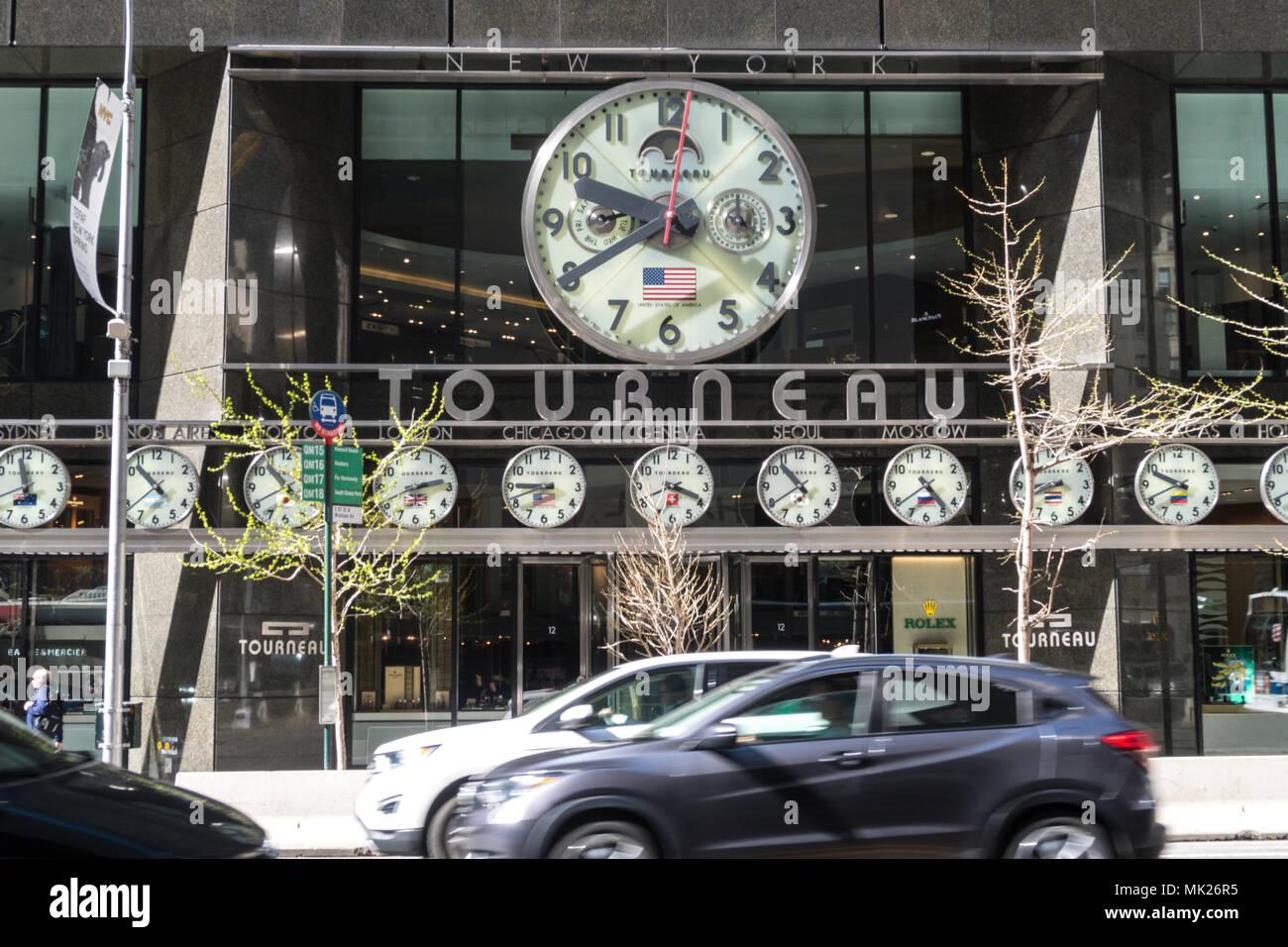 Tourneau Luxury Watch détaillant à 12 East 57th Street à New York Photo Stock