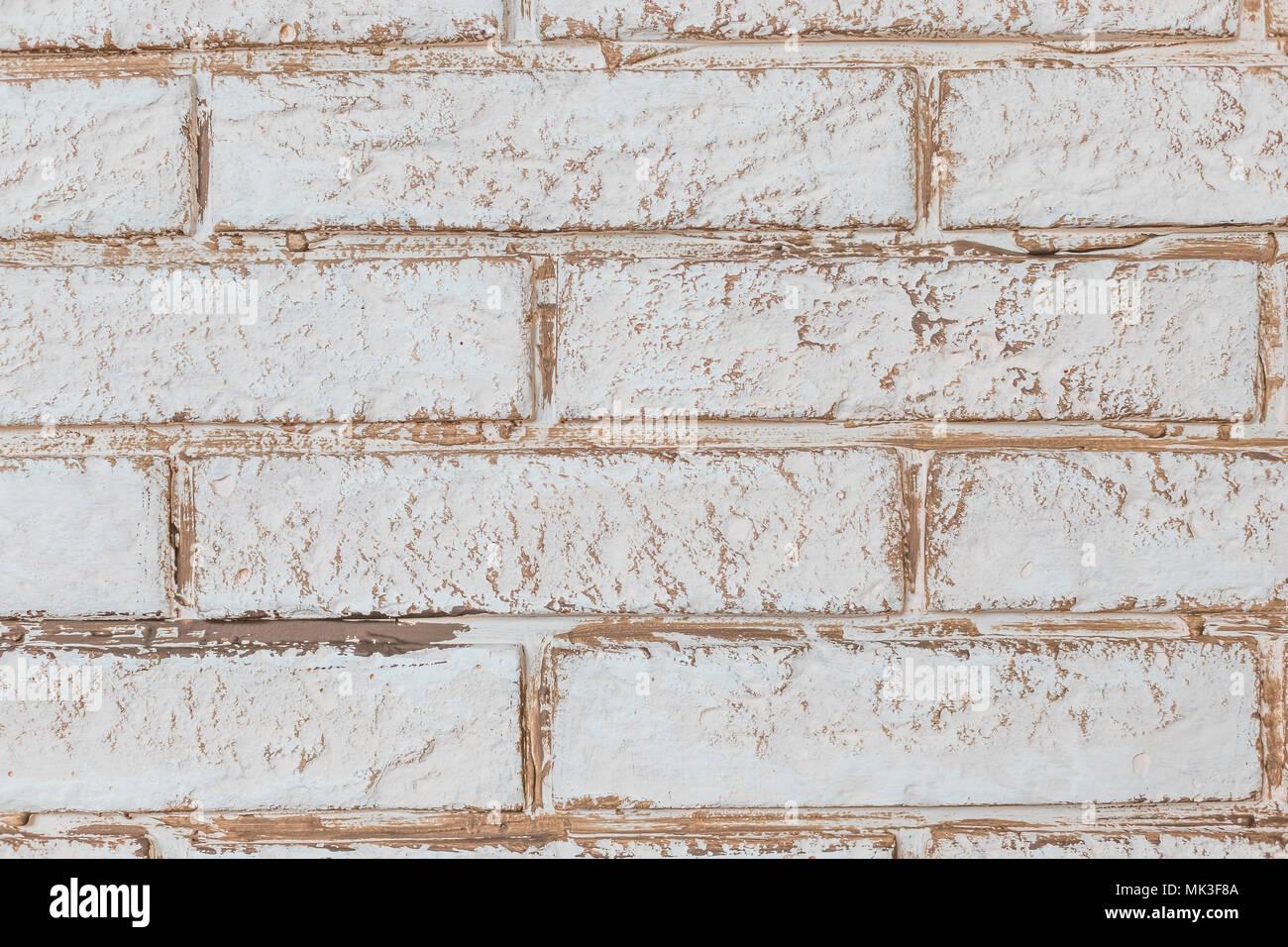 Mur En Brique Blanche, Parfait Comme Arrière Plan, Carré Blanc De Style  Loft.mur.grungy Rusty Blocs De Maçonnerie Technology