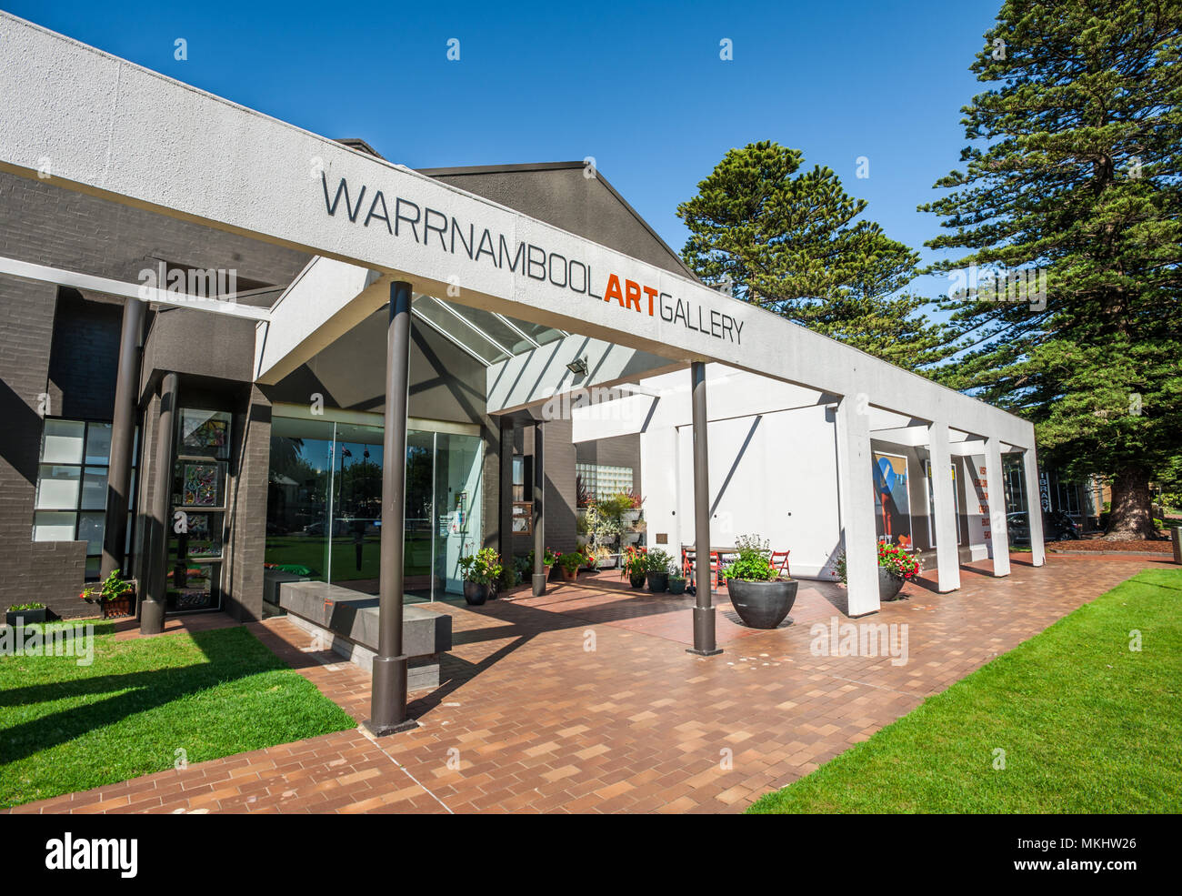 Entrée de la galerie d'Art de Warrnambool, Warrnambool, Shipwreck Coast, Great Ocean Road, Victoria, Australie Photo Stock