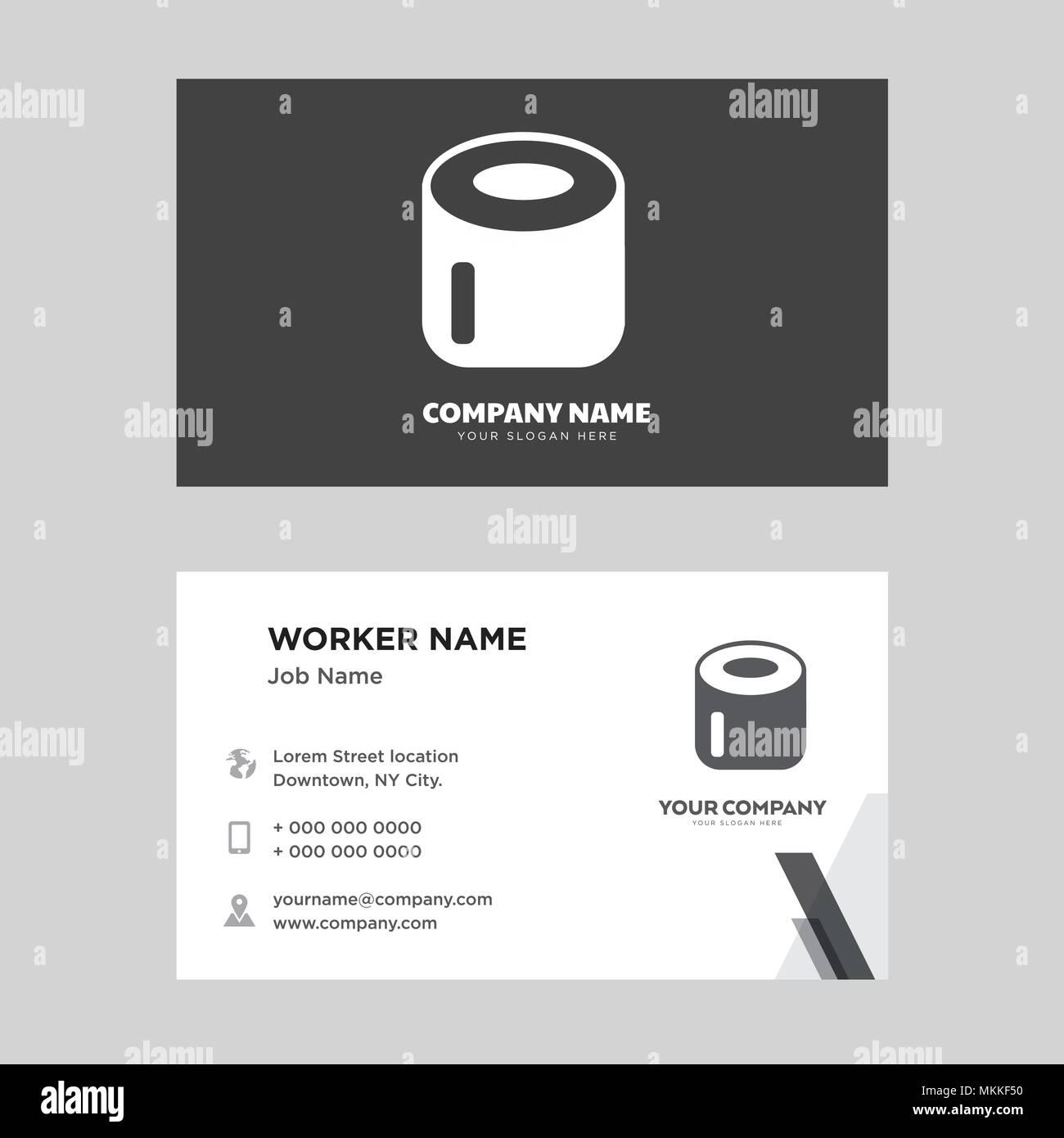 Papier Toilette Carte De Visite Modle Conception Pour Votre Entreprise Vecteur Didentit Horizontale Moderne