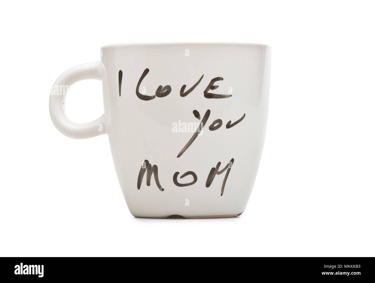 Je Taime Maman Texte Sur Mug Blanc Isolé Avec Clipping Path