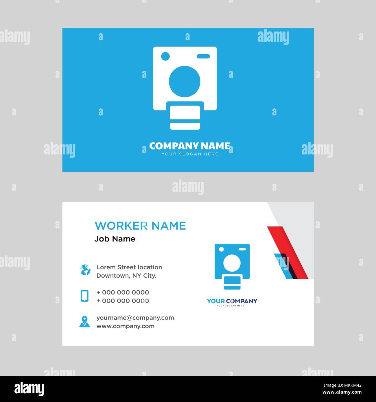 Modle De Conception Carte Polaroid La Visite Votre Entreprise Vecteur Didentit Horizontale Moderne