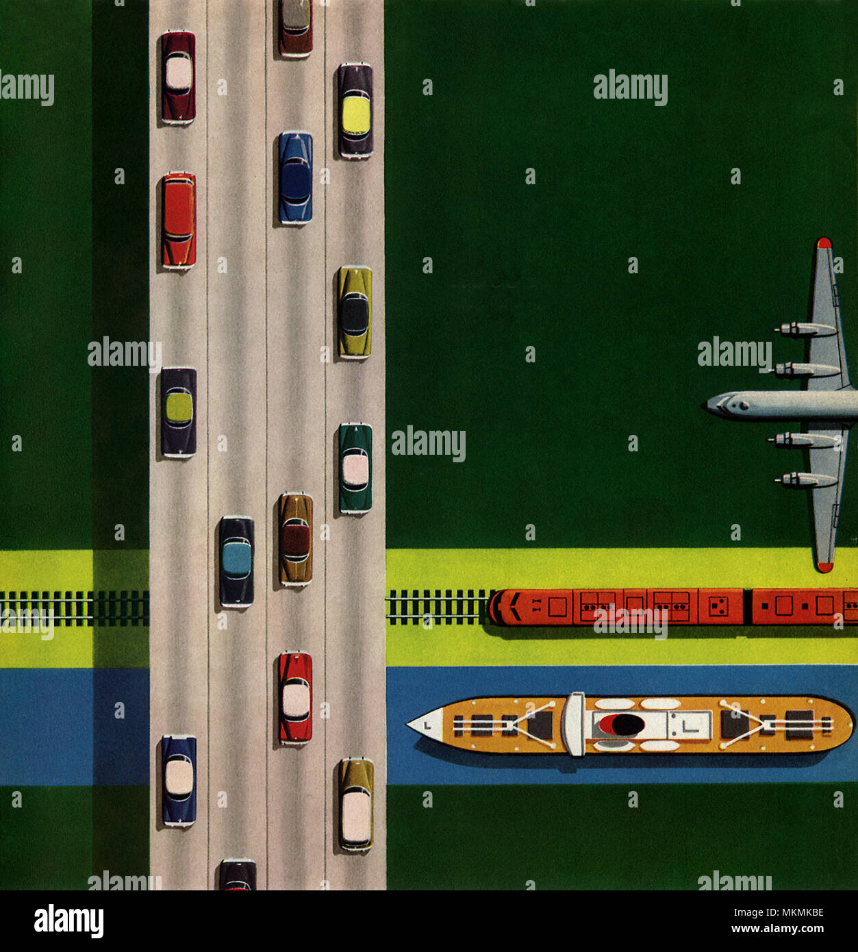Modes de transport Photo Stock