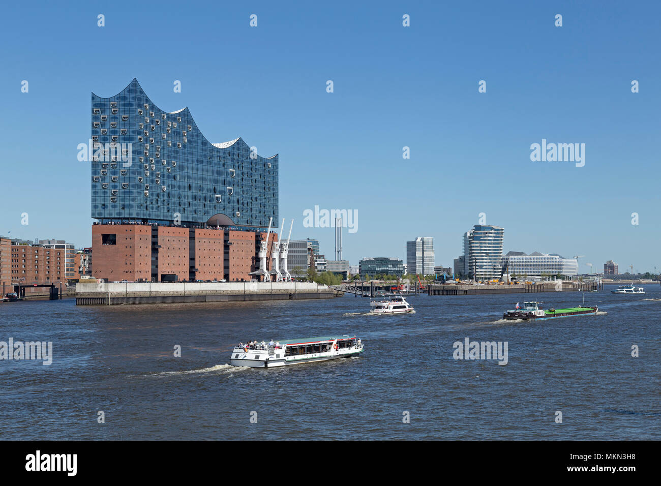 Elbe Philharmonic Hall, Harbour City, Hambourg, Allemagne Banque D'Images