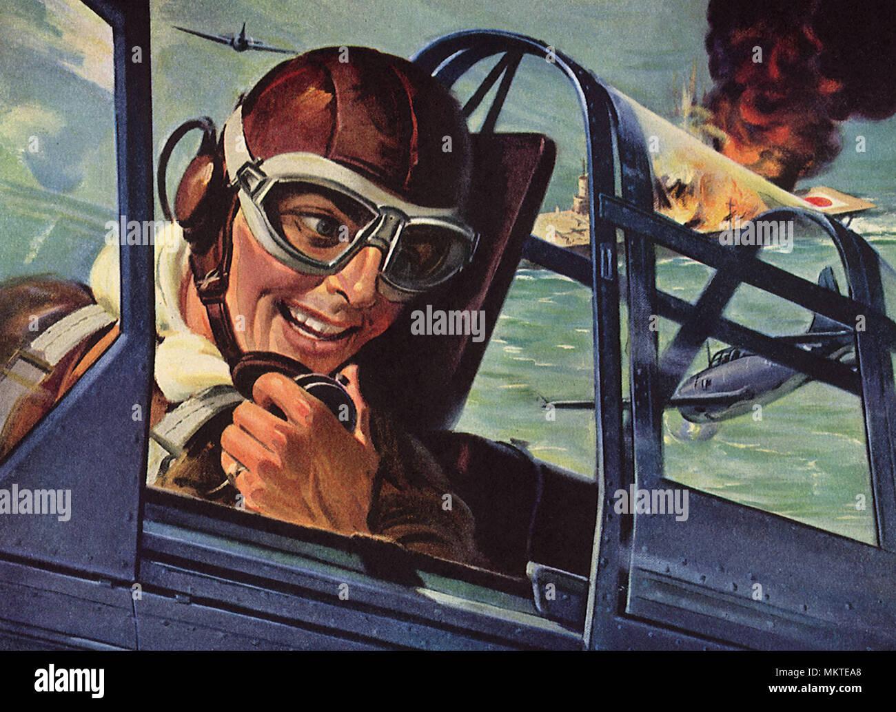 Pilotes Americains Evier De Navire Japonais Banque D Images Photo