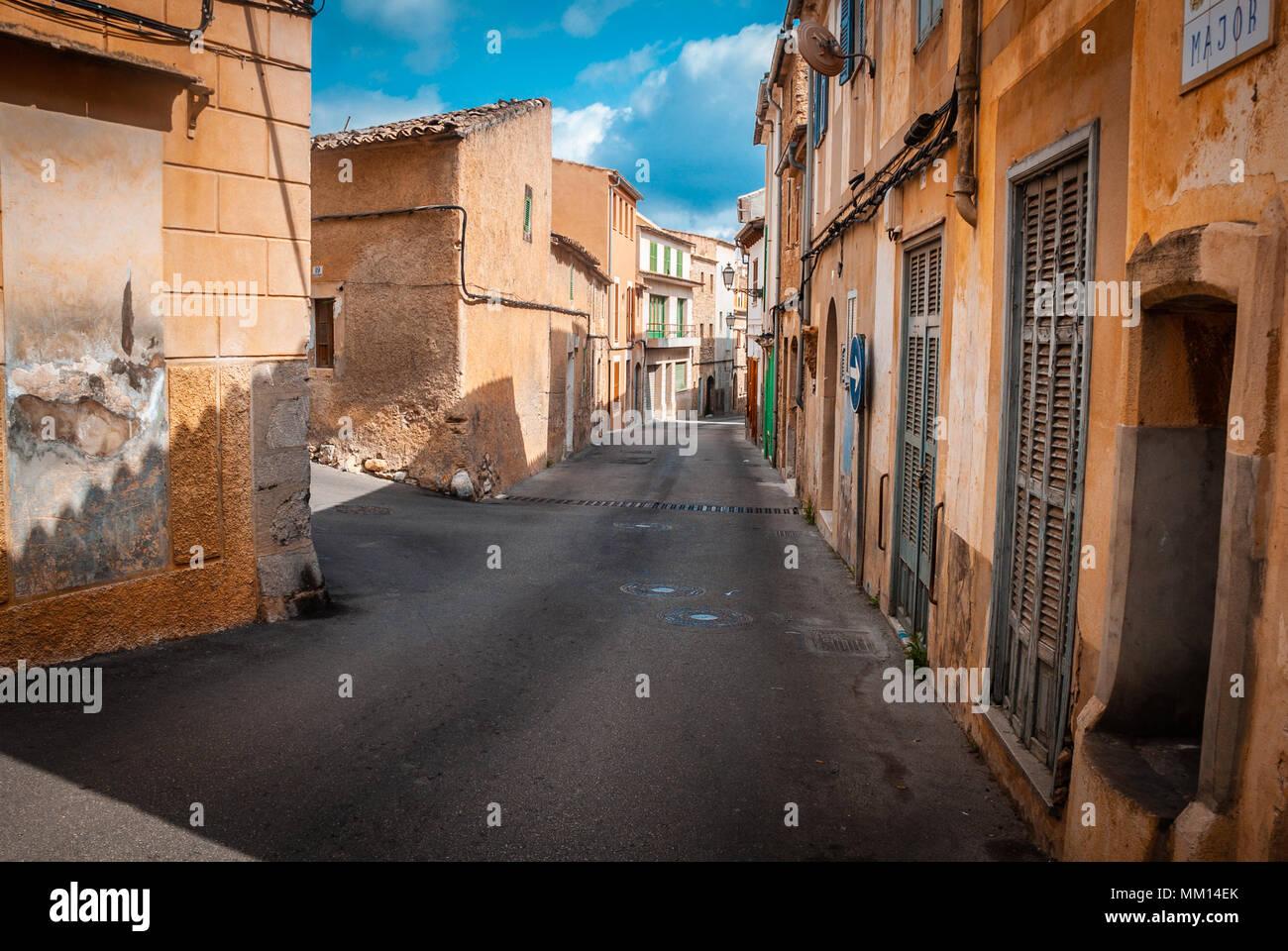 , Capdepera Mallorca alley (lumière du jour personne ) Photo Stock