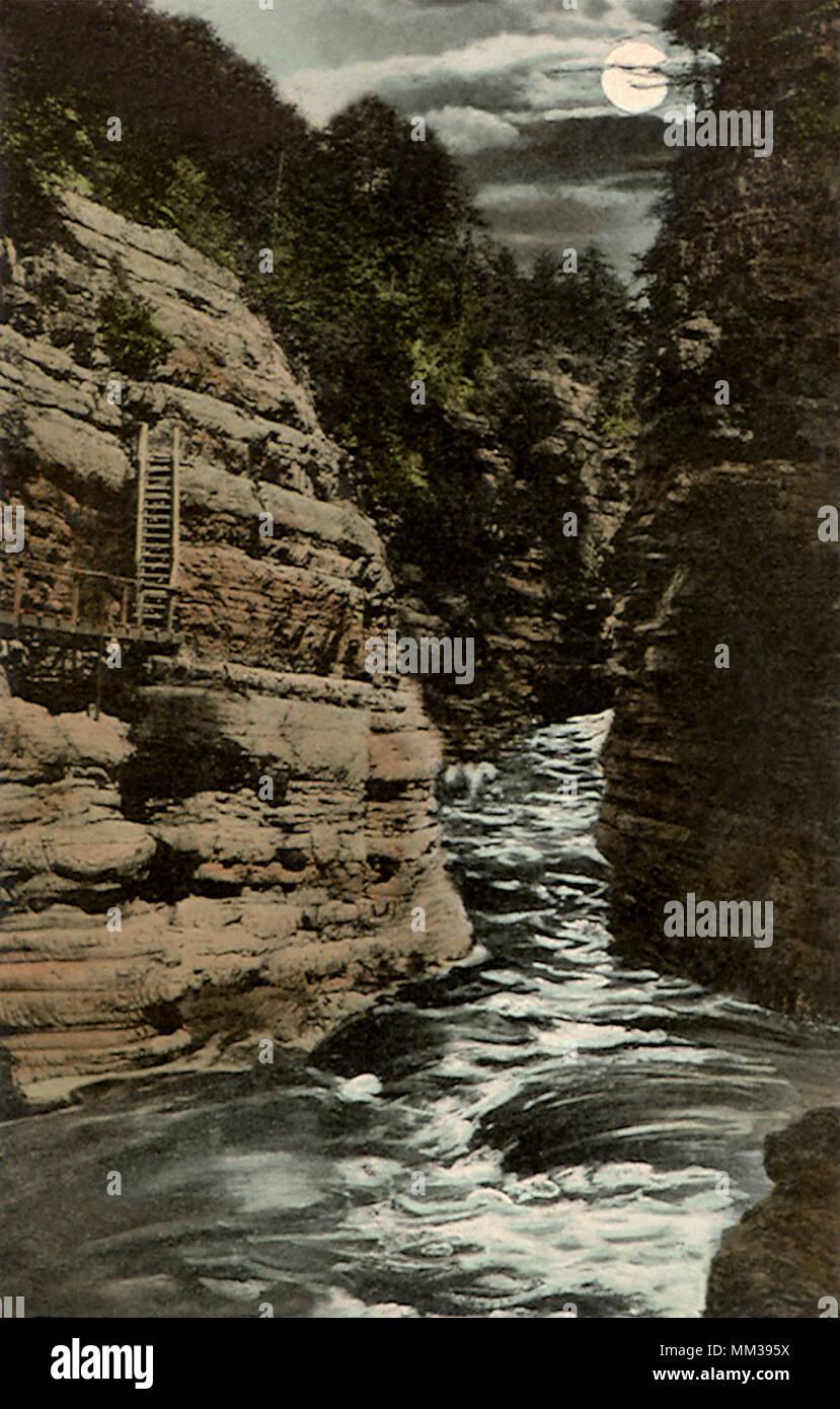 La Ausable Chasm. Adirondack. 1910 Banque D'Images