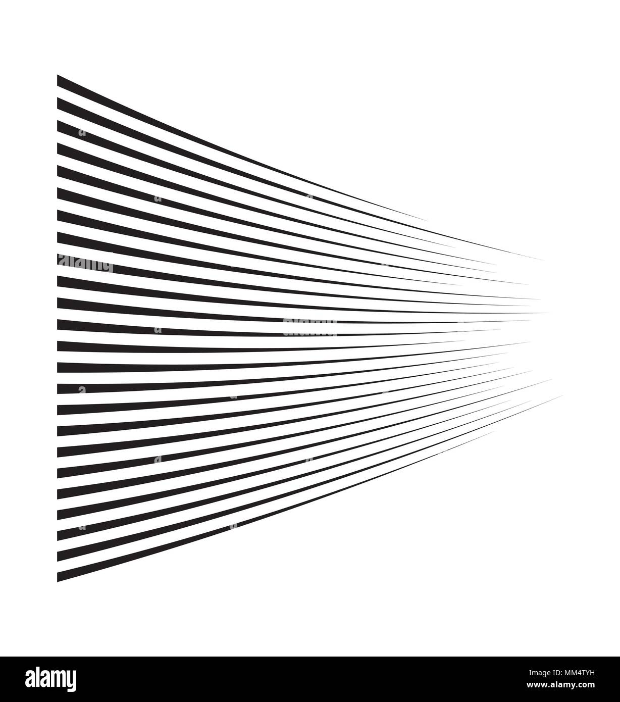 Vitesse de mouvement horizontal lines pour comic book Photo Stock