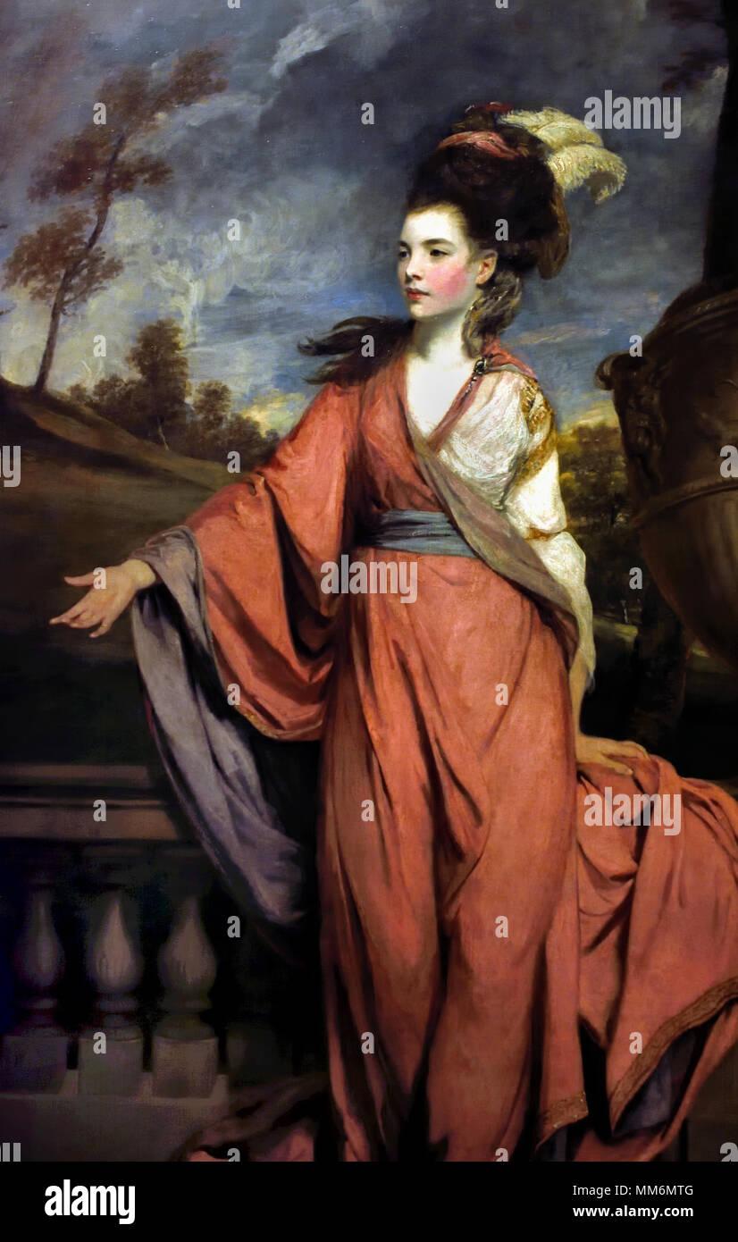 Jane Fleming (1755 - 1824), plus tard Comtesse de Harington. ( Elle et sa sœur Seymour étaient considérés comme la plus belle femme d'Angleterre à l'époque.) par Sir Joshua Reynolds ( 1723-1792 ) le 18 Siècle, Royaume-Uni, États-Unis, France, Français, Britanniques, la Grande-Bretagne, Photo Stock
