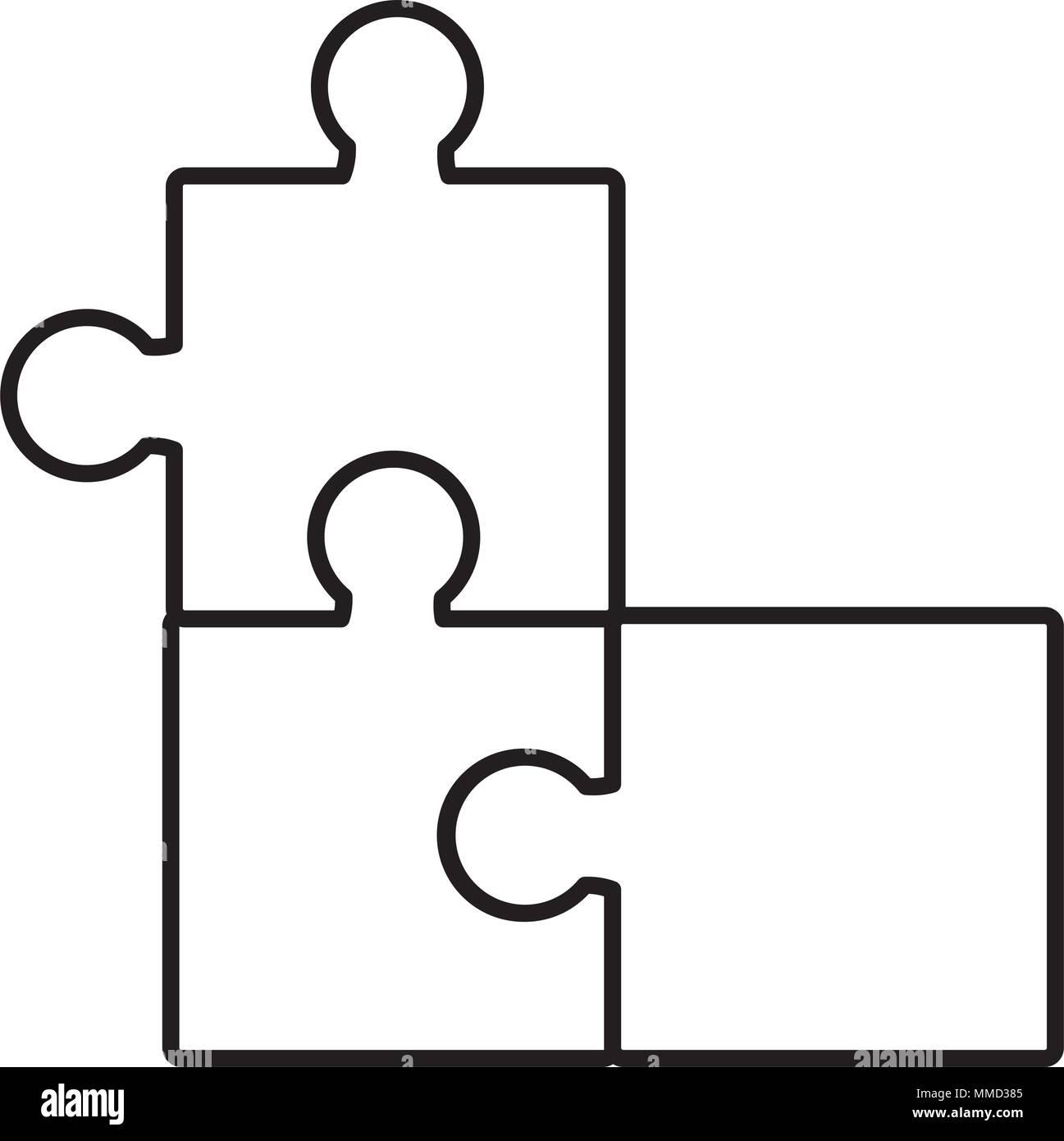 Pièces du casse-tête de ligne de jeu d'entreprise Image Vectorielle Stock -  Alamy