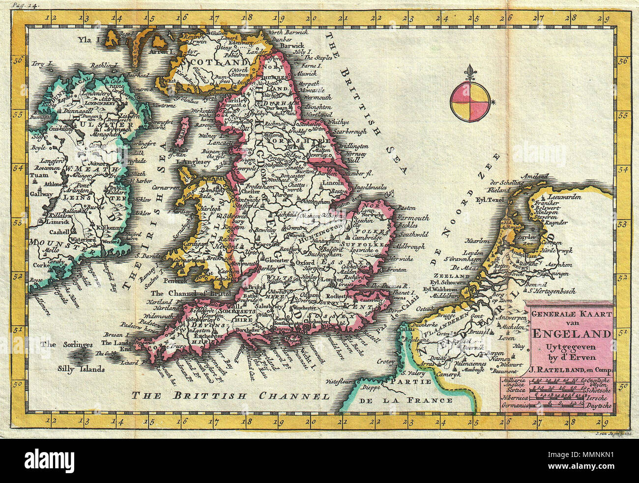 Carte Angleterre Pays Bas.Anglais Une Superbe Carte De L Angleterre D Abord Dessine