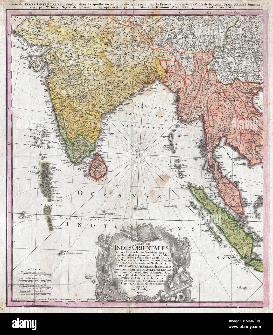 Birmanie Carte Regions.Anglais Un Joli Exemple De L Ouest Feuille De La Heritiers Homann