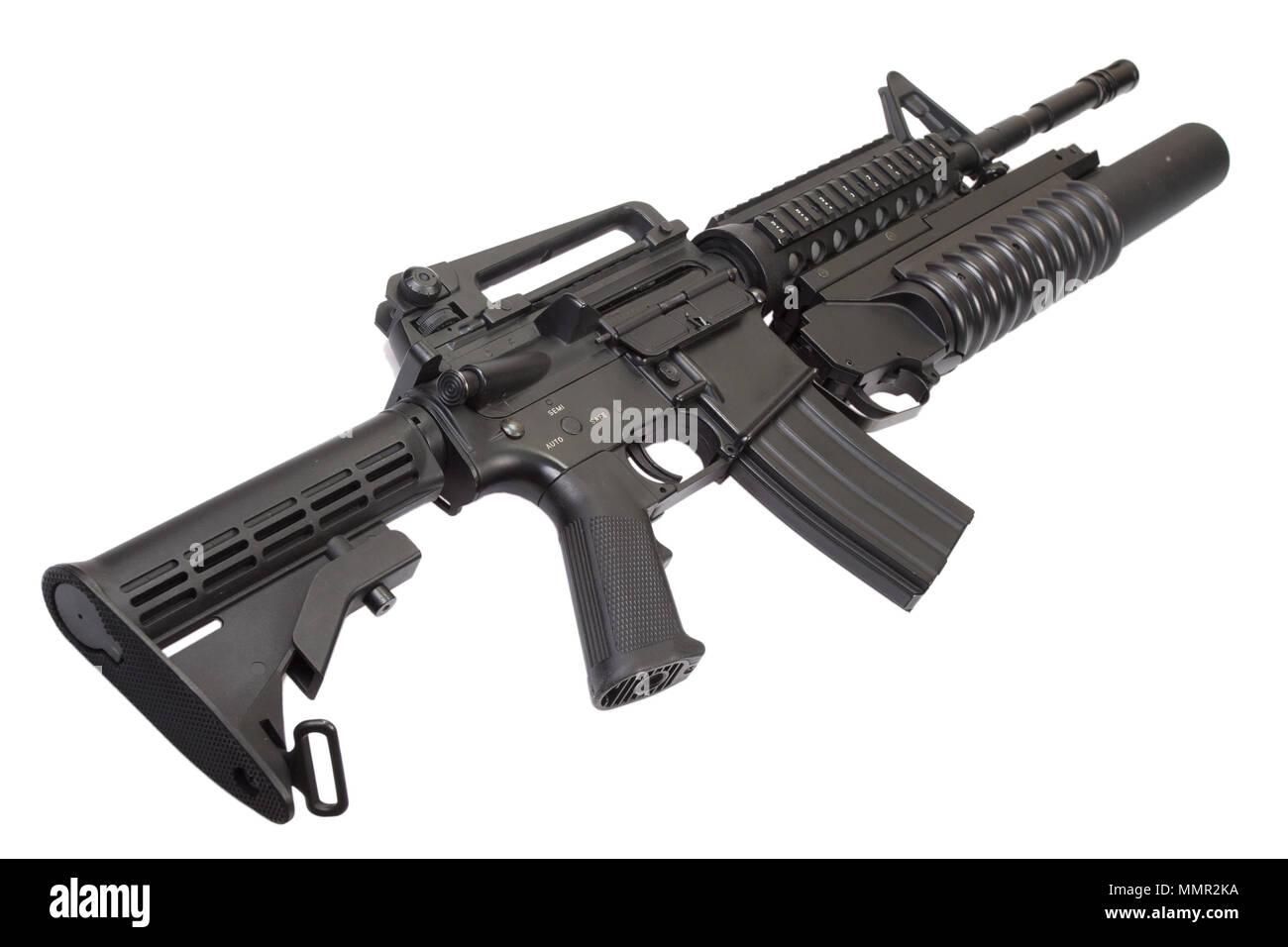 Un fusil d'assaut équipés de lance-grenades Banque D'Images