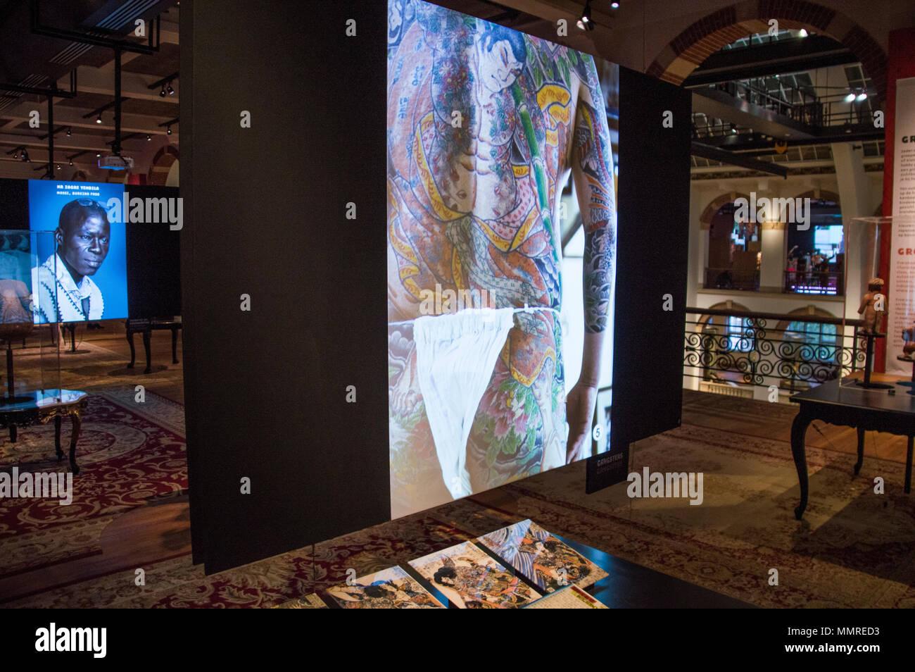 Body Art exposition au Tropenmuseum Amsterdam Pays-Bas Photo Stock