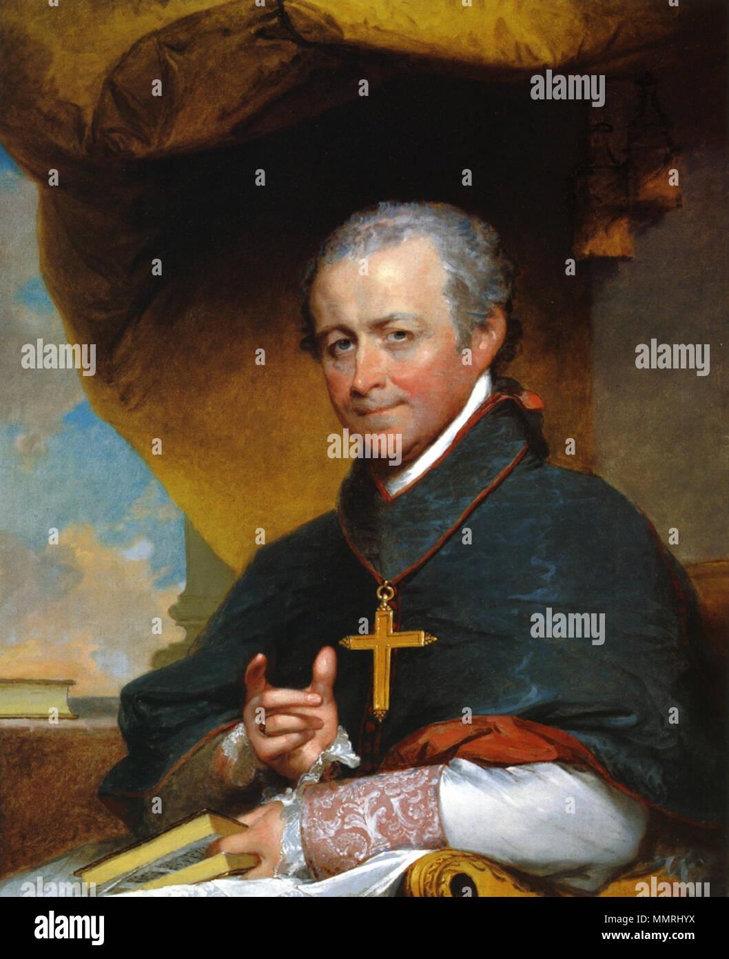 . English: 'Évêque Jean-Louis Anne Magdelaine Lefebvre de Cheverus' . 1823. Mgr Jean-Louis Anne Magdelaine Lefebvre de Cheverus par Gilbert Stuart 1823 Banque D'Images