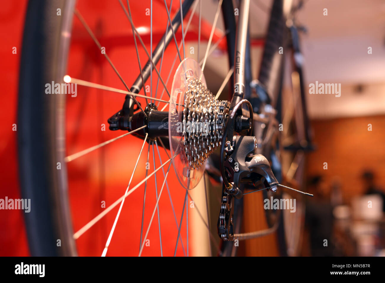 Gros plans d'engins bycicle Photo Stock
