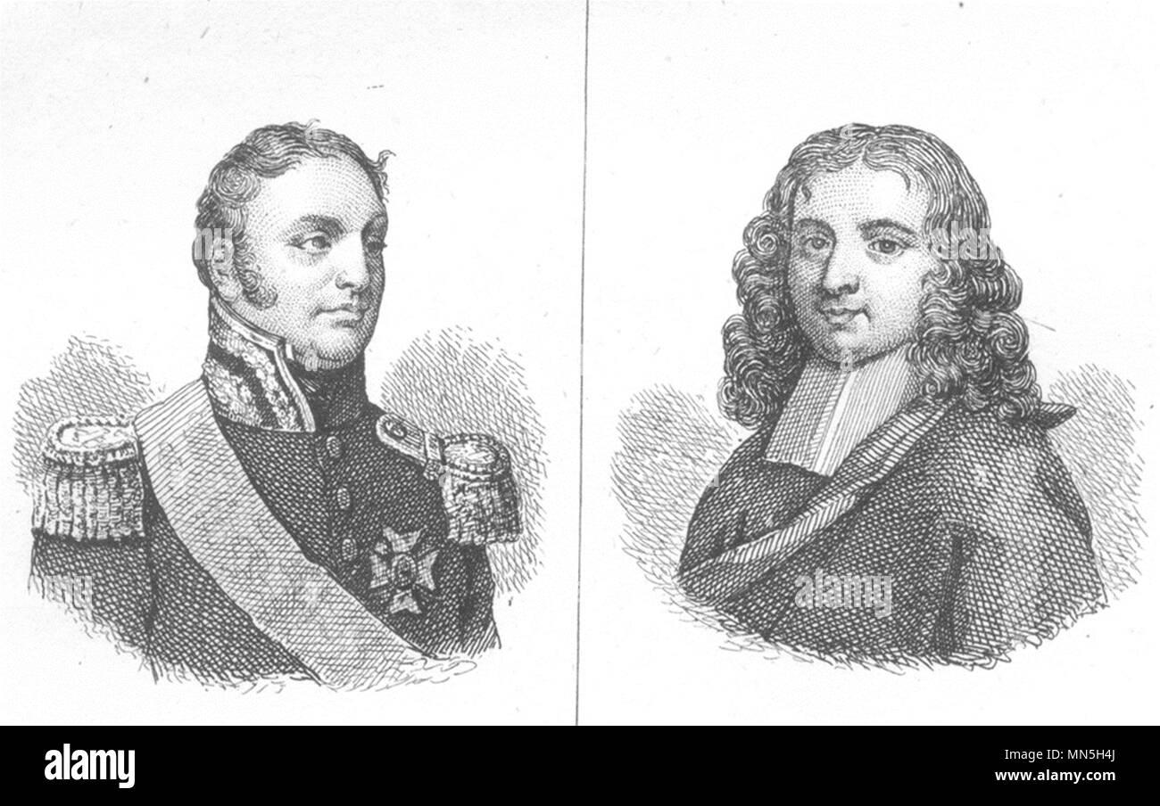 De l'Ariège. Mal. Clausel; Bayle 1835 ancienne vintage print photo Photo Stock