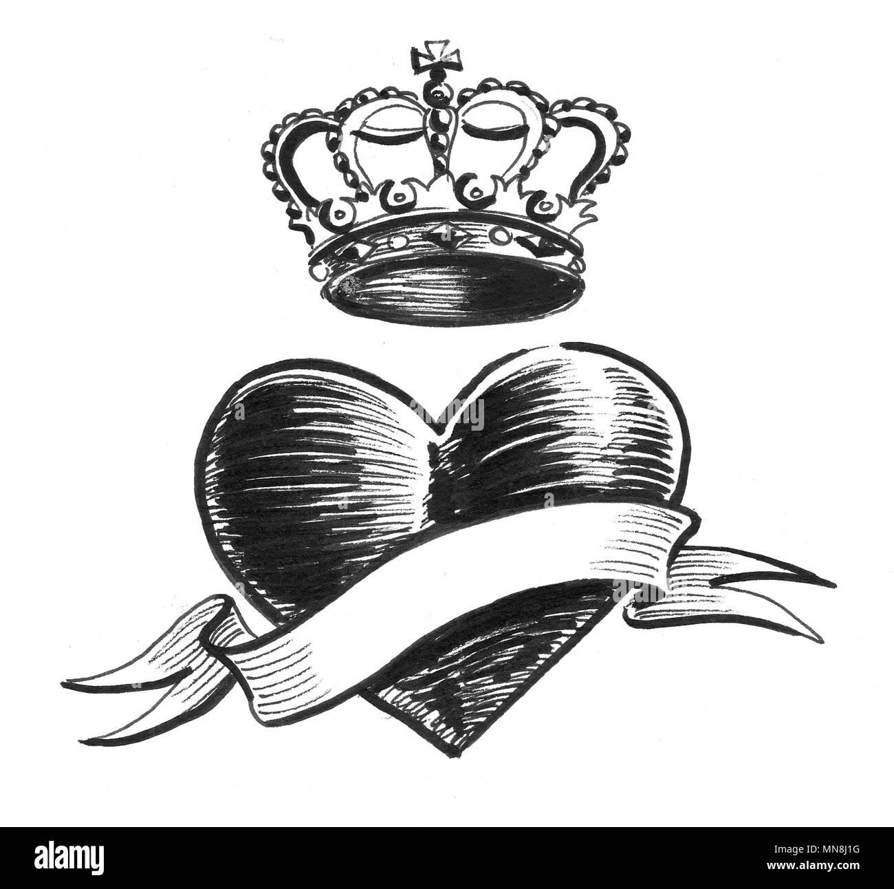Idees De Fait Main Coeur Dessin Noir Et Blanc