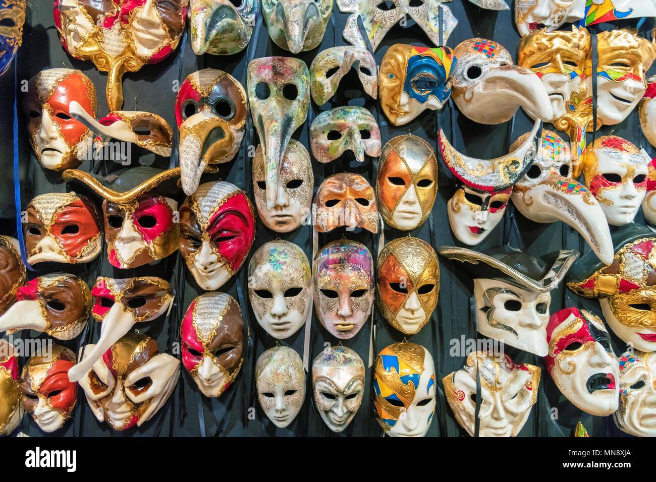 Les masques à Venise, Italie. Photo Stock