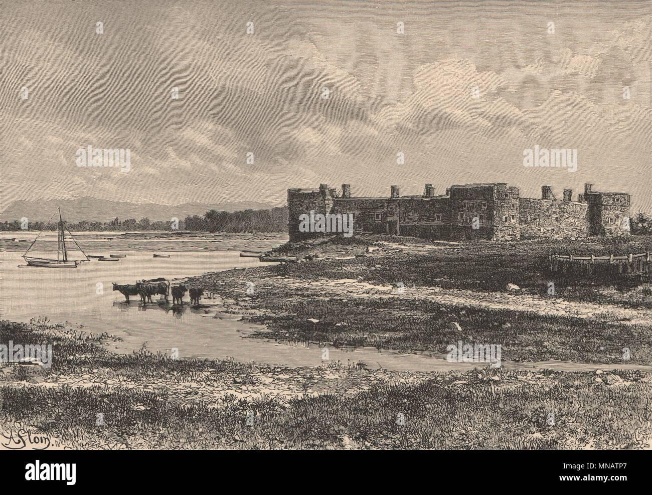 Le Fort Chambly Sur La Riviere Richelieu Pres De Montreal Quebec Canada 1885 Imprimer Photo Stock Alamy