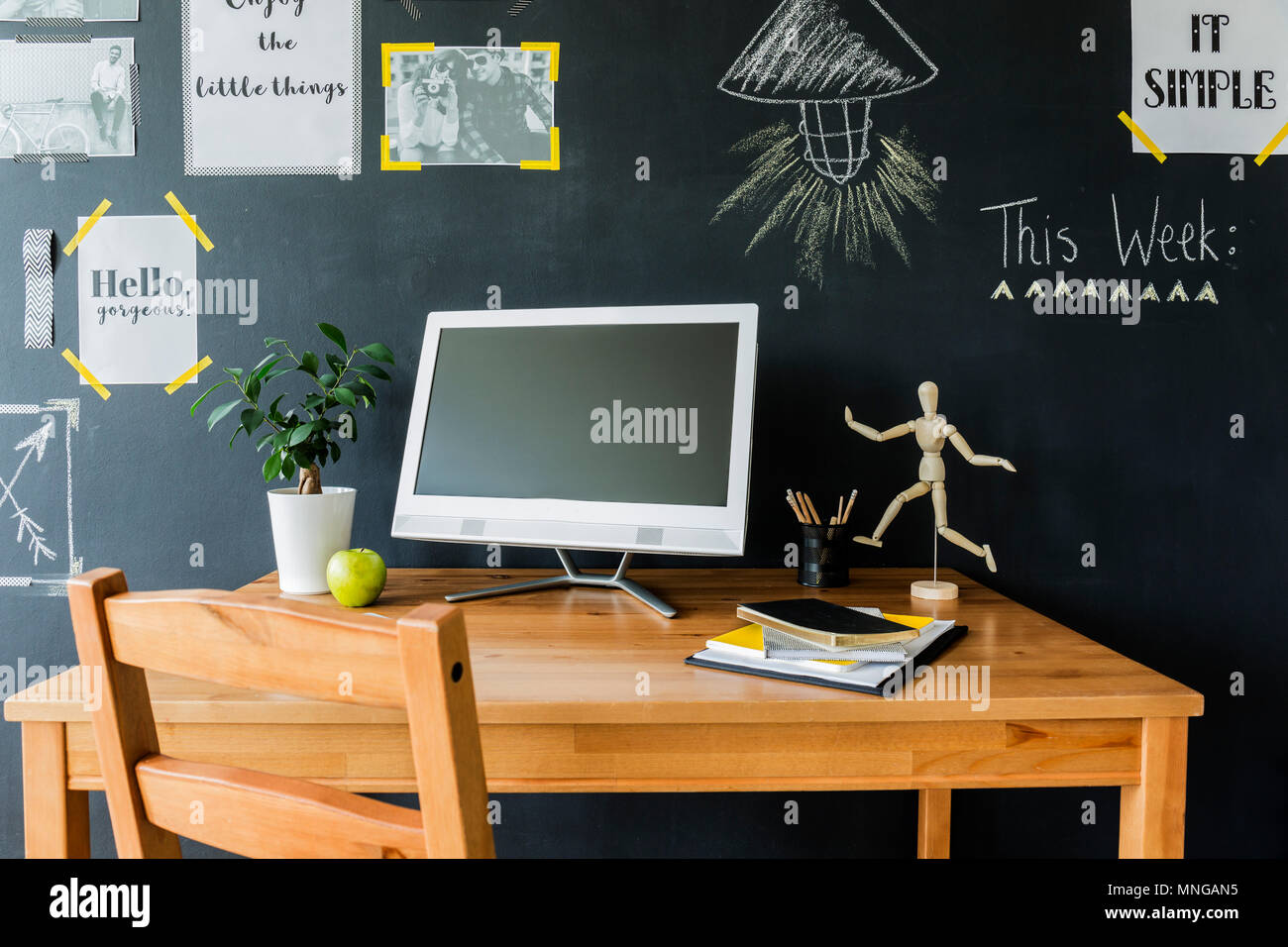 Large wooden desk photos large wooden desk images alamy