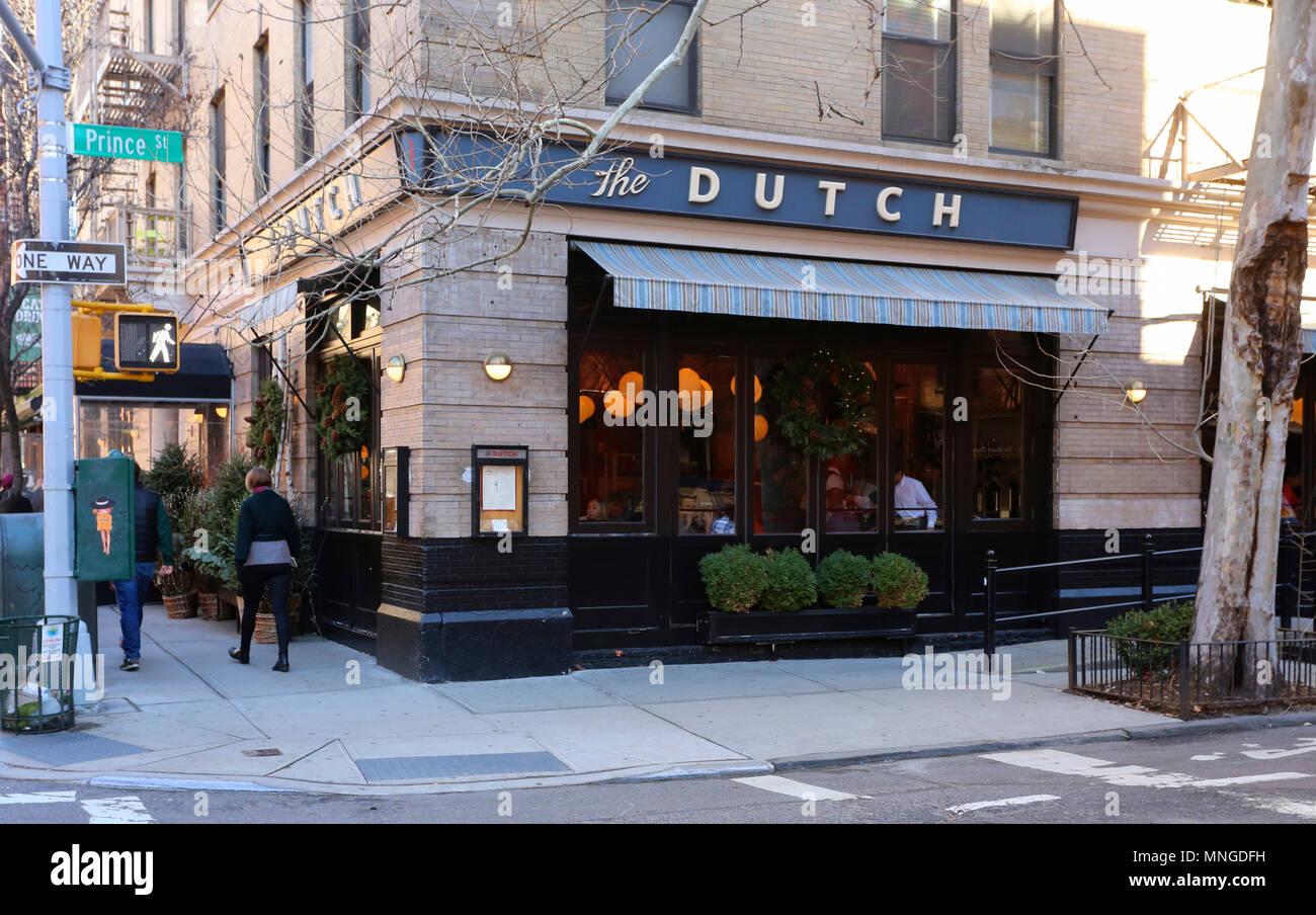 Le Néerlandais, 131 Sullivan St, New York, NY Photo Stock