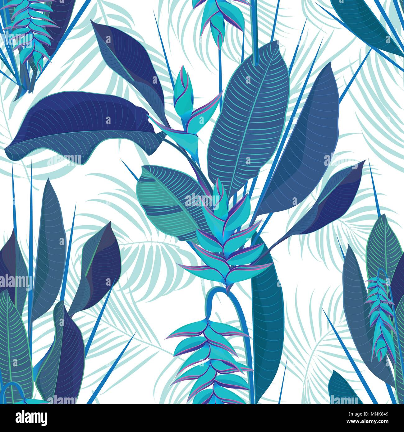 Tropical Flower Quitte La Direction Generale Heliconia Seamless