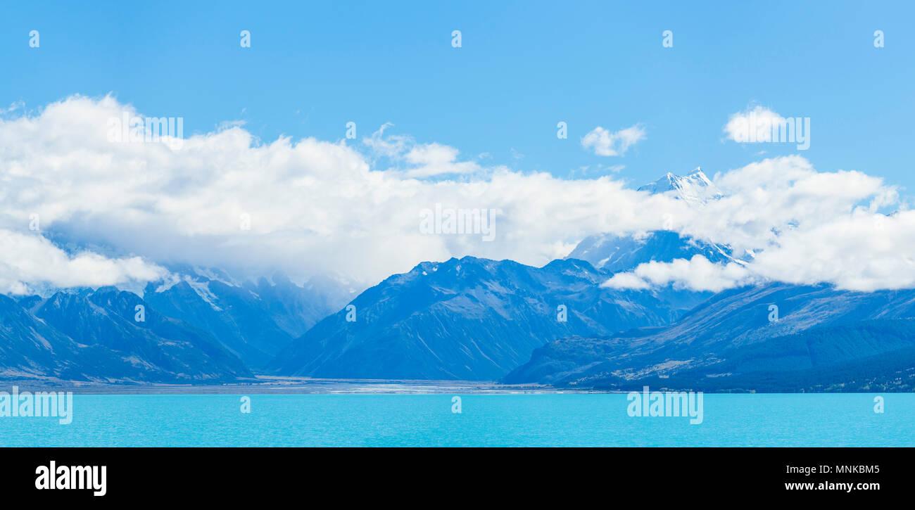 Lac Pukaki Nouvelle-zélande Île du Sud nz Banque D'Images