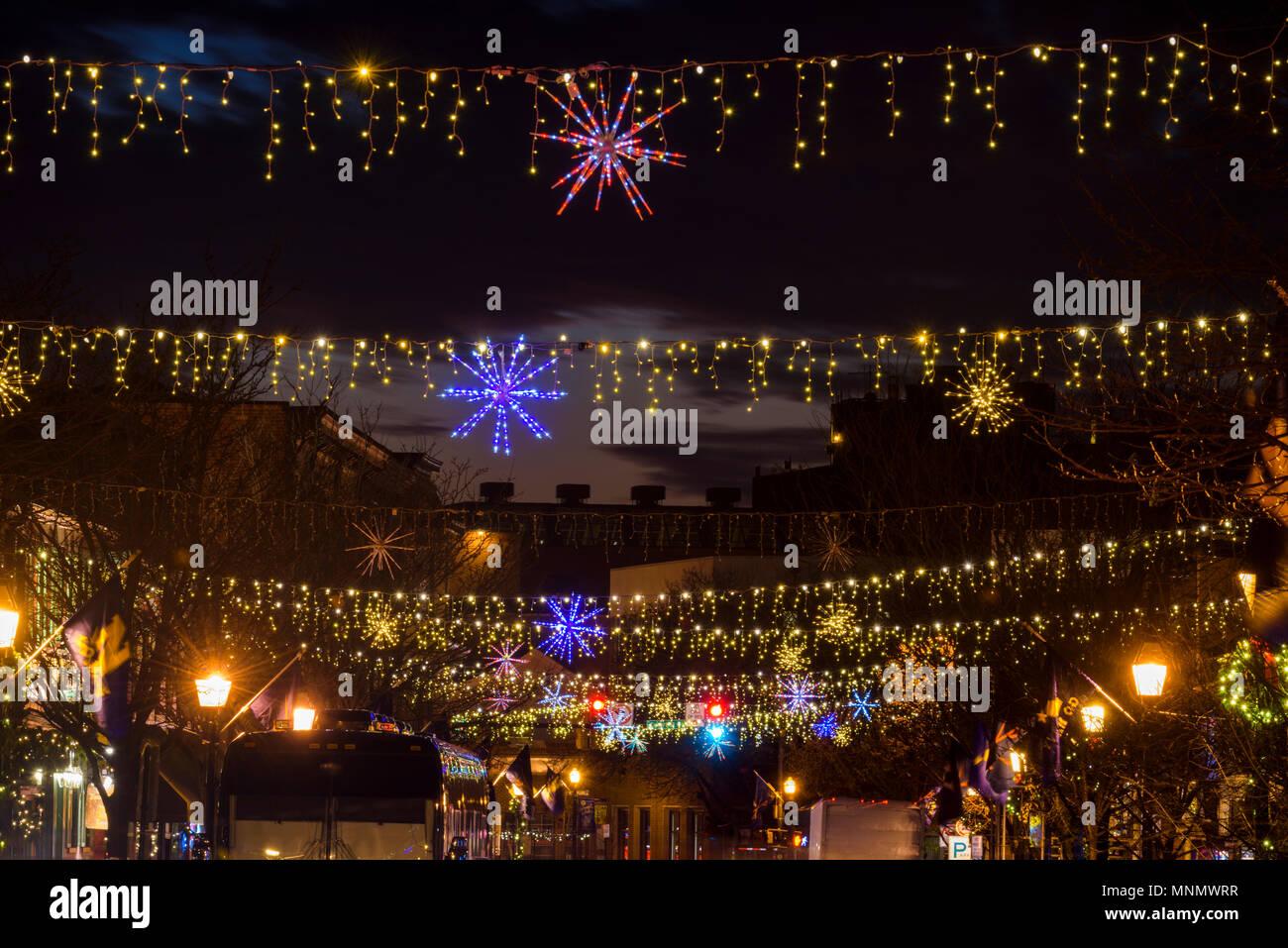 Des décorations de Noël à Annapolis (Maryland), Banque D'Images