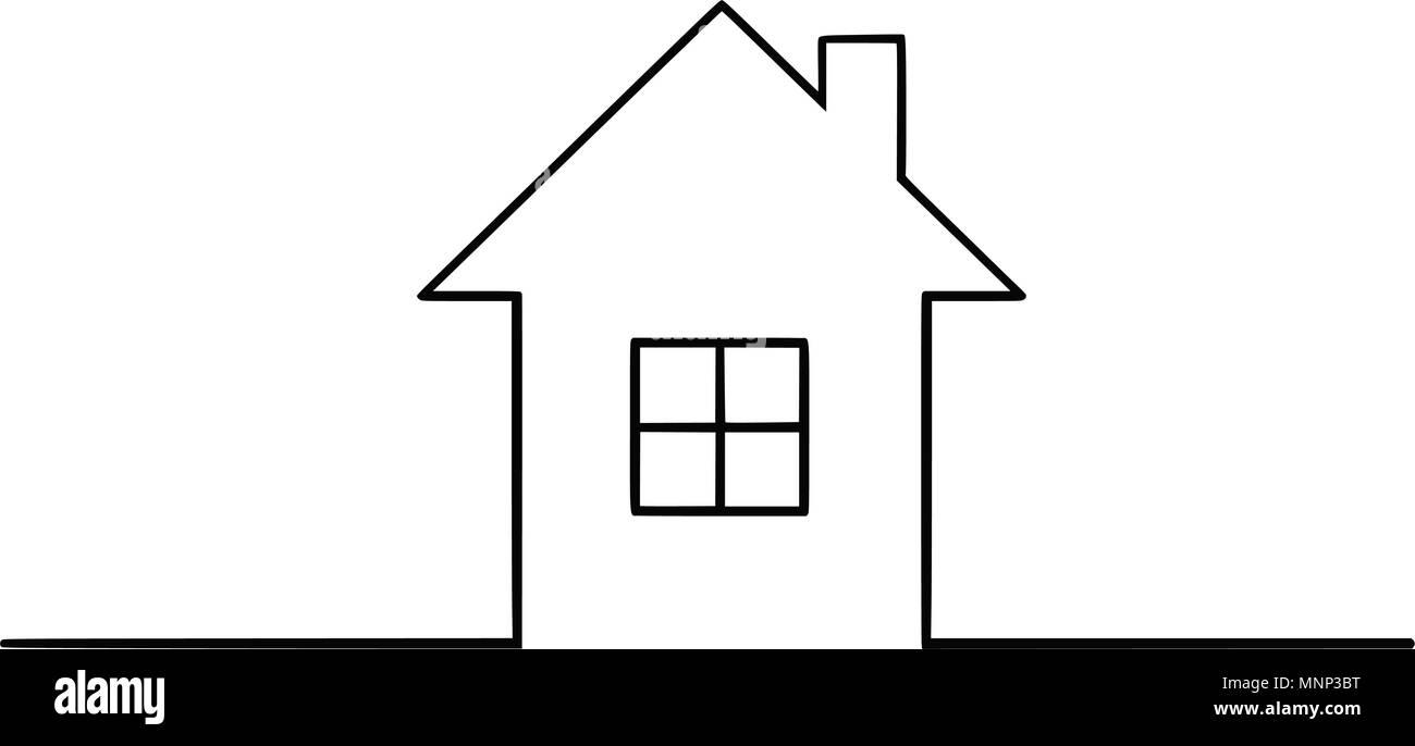 Vector Illustration Dessin Artistique De La Maison De