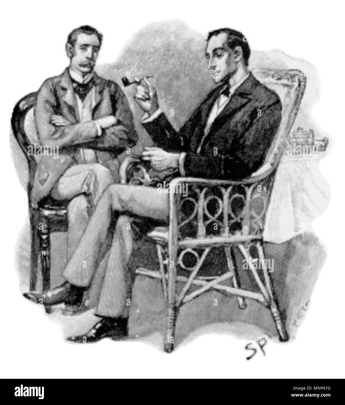 Illustration Par Sidney Paget A Partir De Lhistoire Sherlock Holmes LInterprete Grec Qui Paru Dans Le Strand Magazine