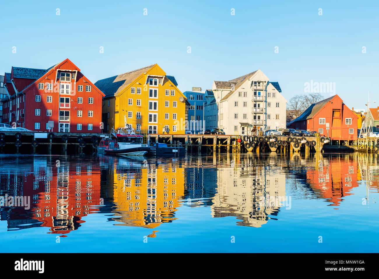 Belle ville de Tromso, dans le Nord de la Norvège Photo Stock