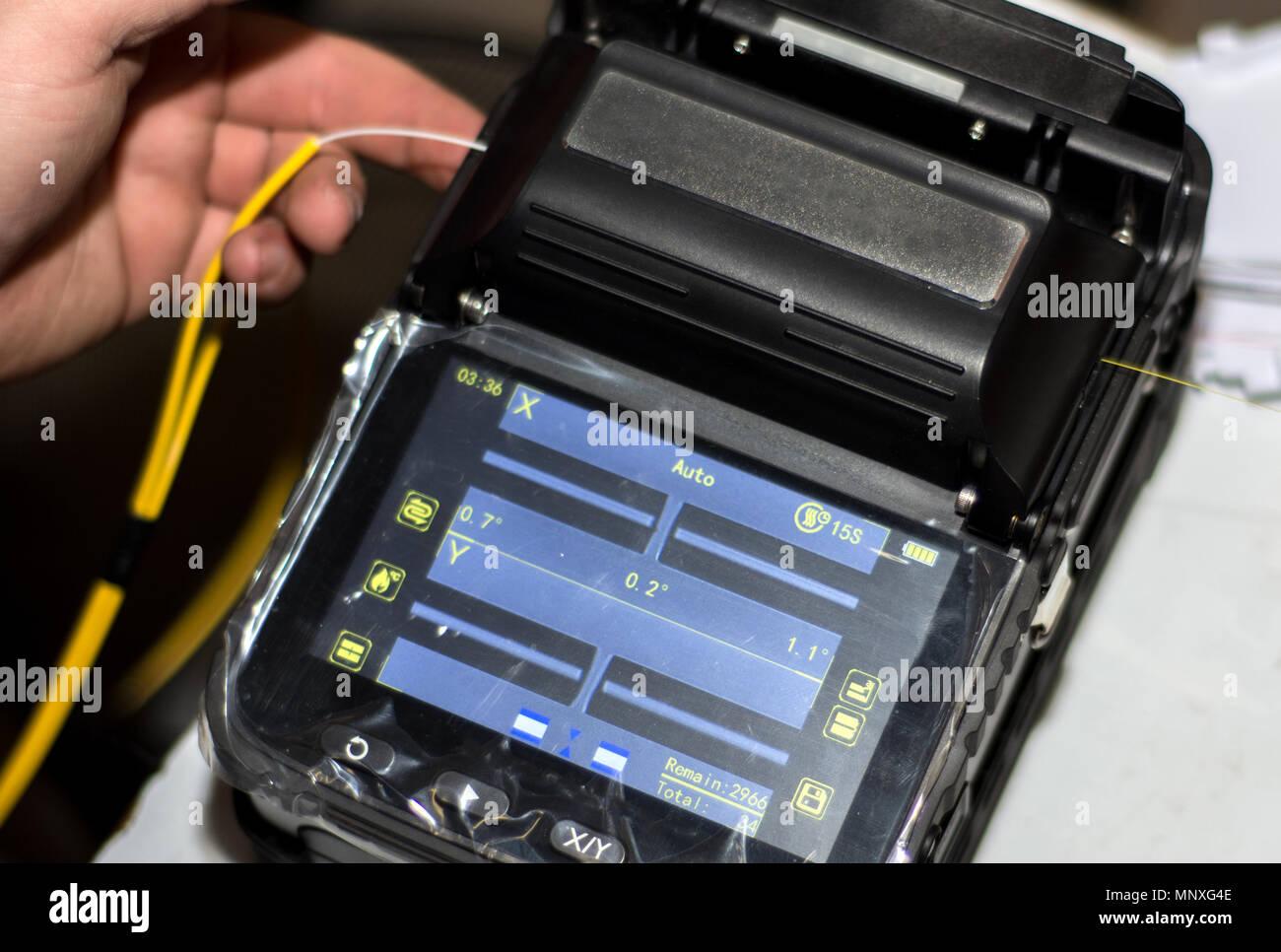 a193e127bd235a Câble fibre optique de raccord avec la fusion de fibre optique instrument  d épisseur outil