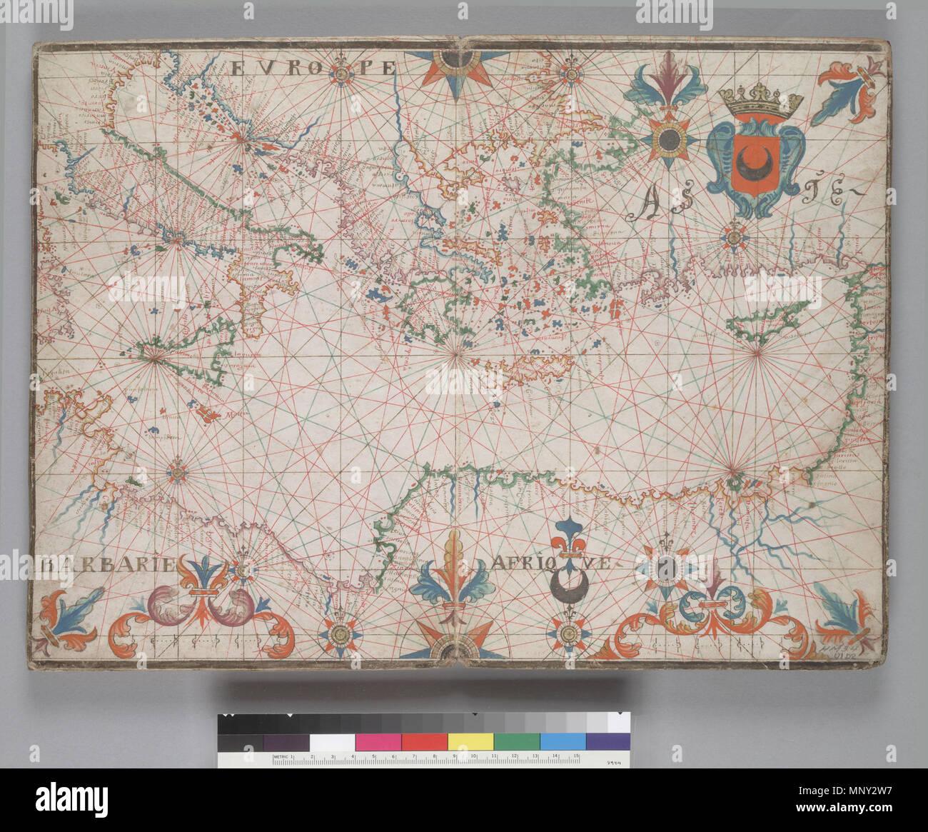 045ee2c35 Anglais   plan de l Est de la Méditerranée. HM 34. PORTOLAN ATLAS ...
