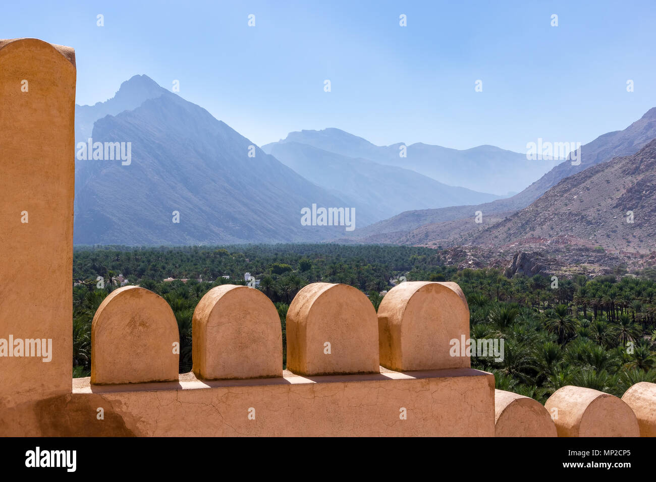 Le Fort Nakhl, Oman Photo Stock