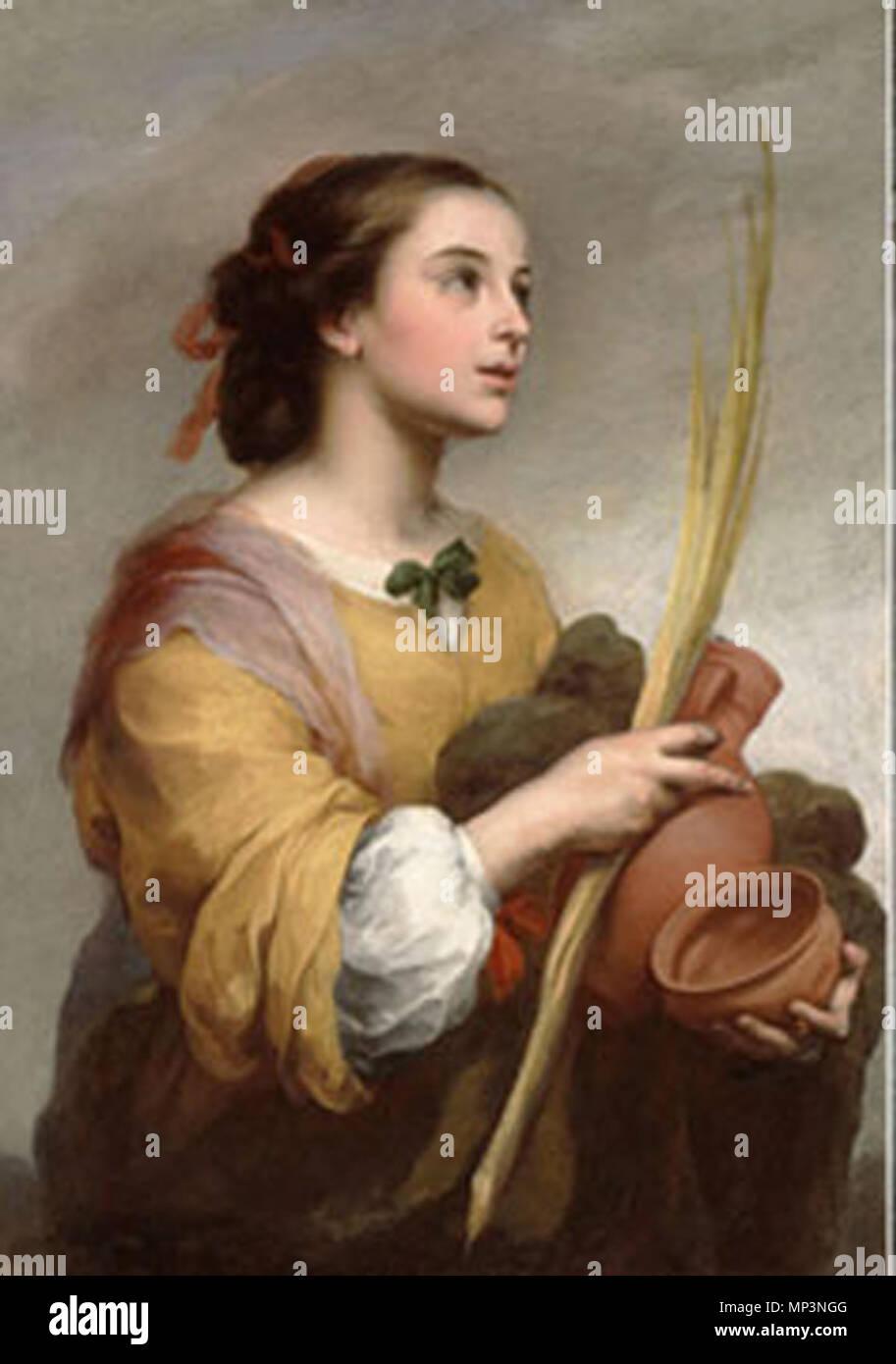 Español: Santa Justa . Español: Santa Justa pintura al óleo de Bartolomé Esteban Murillo en el Museo Meadows de Dallas (Texas, Etats-Unis) . vers 1665. 912 Santa Justa Murillo Photo Stock